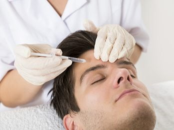Young Man Having anti-wrinkle treatment